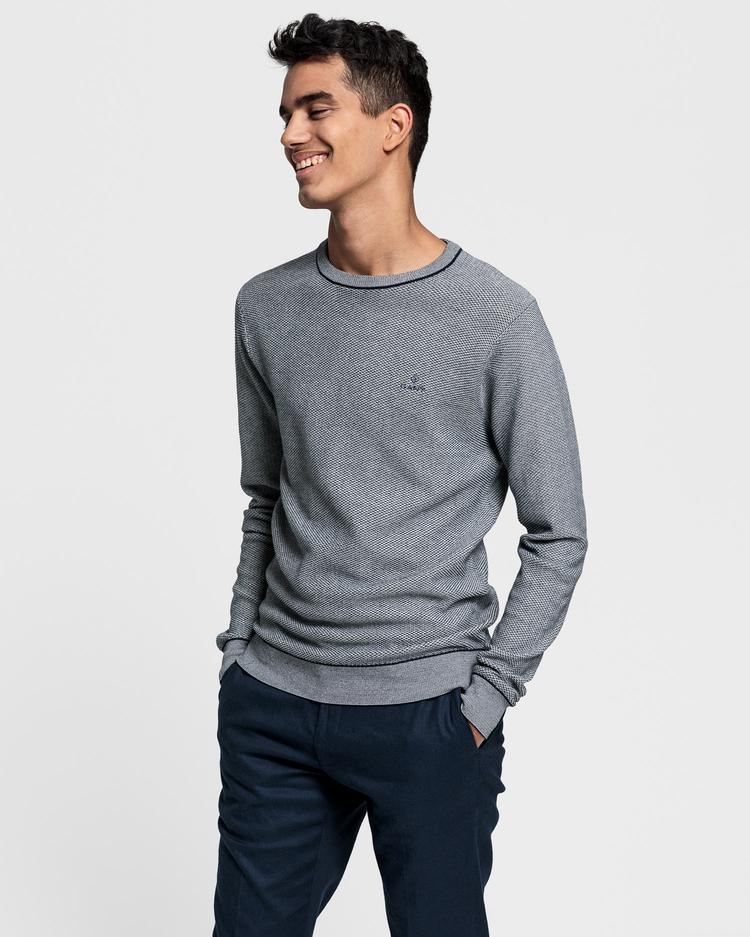 GANT Men's Micro Texture Sweater - 8000093