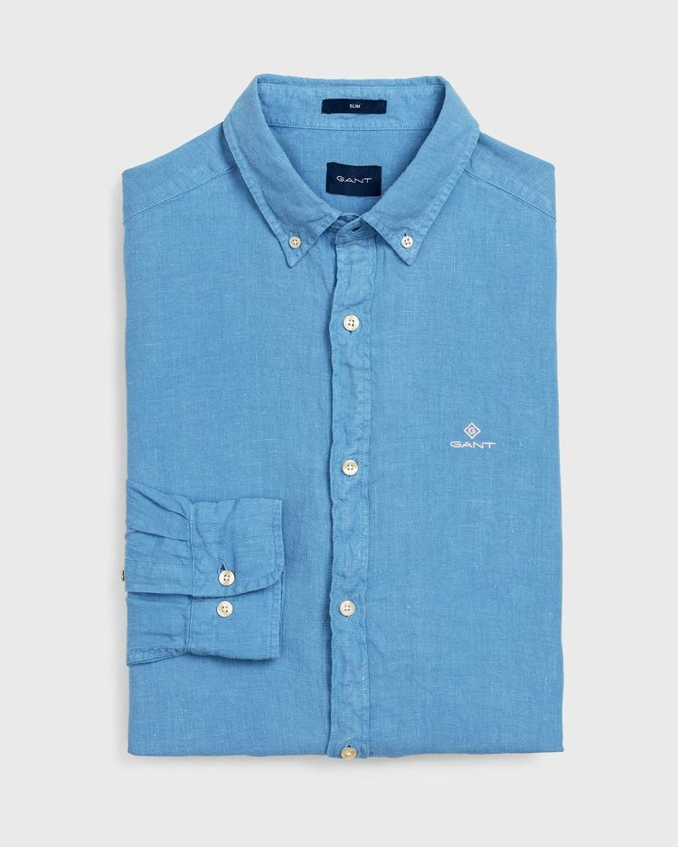 GANT Men's Dyed Linen Slim Fit Shirt - 3003762