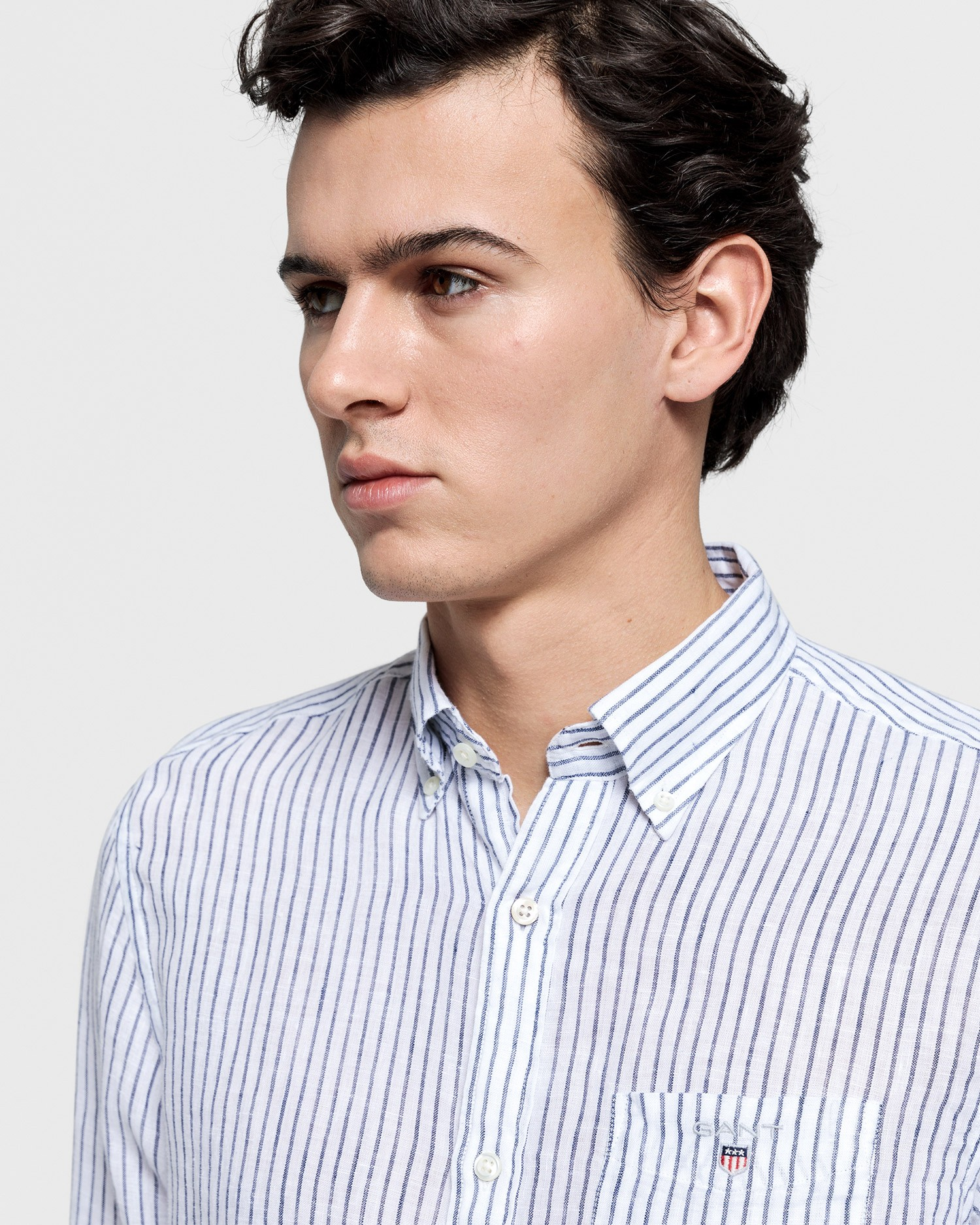 GANT Men's Linen Banker Regular Fit Shirt - 3007220