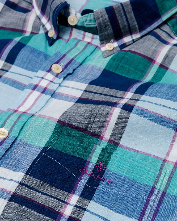 GANT Men's Blue Regular Fit Madras Shirt - 3014630