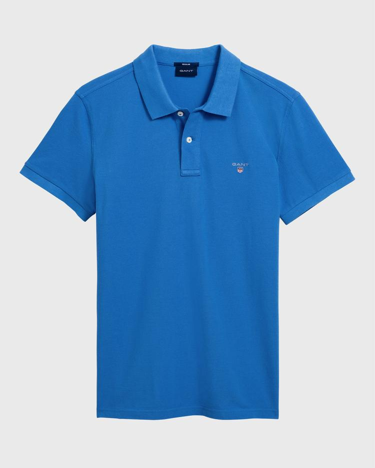 GANT Erkek Mavi Regular Fit Pique Polo - 2201