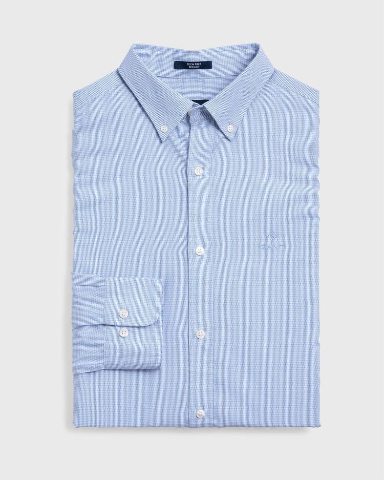 GANT Erkek Mavi Regular Fit Tech Prep Royal Oxford Gömlek - 3015330