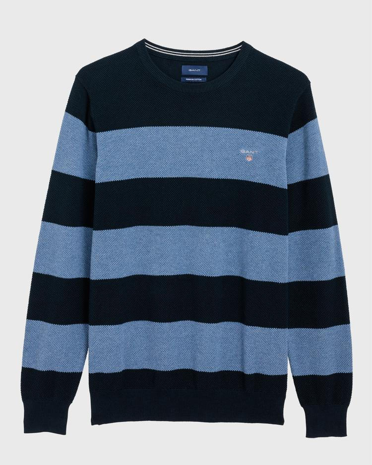 GANT Men's Cotton Pique Barstripe Sweater - 8010510