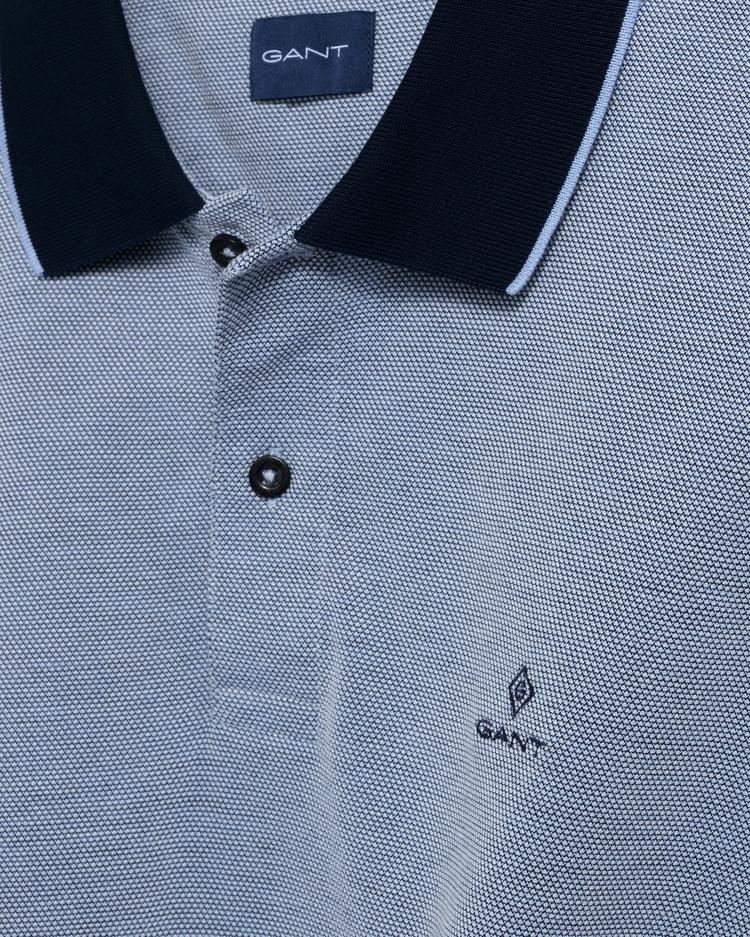 GANT Erkek Mavi Regular Fit Pique Rugger Polo - 2012012