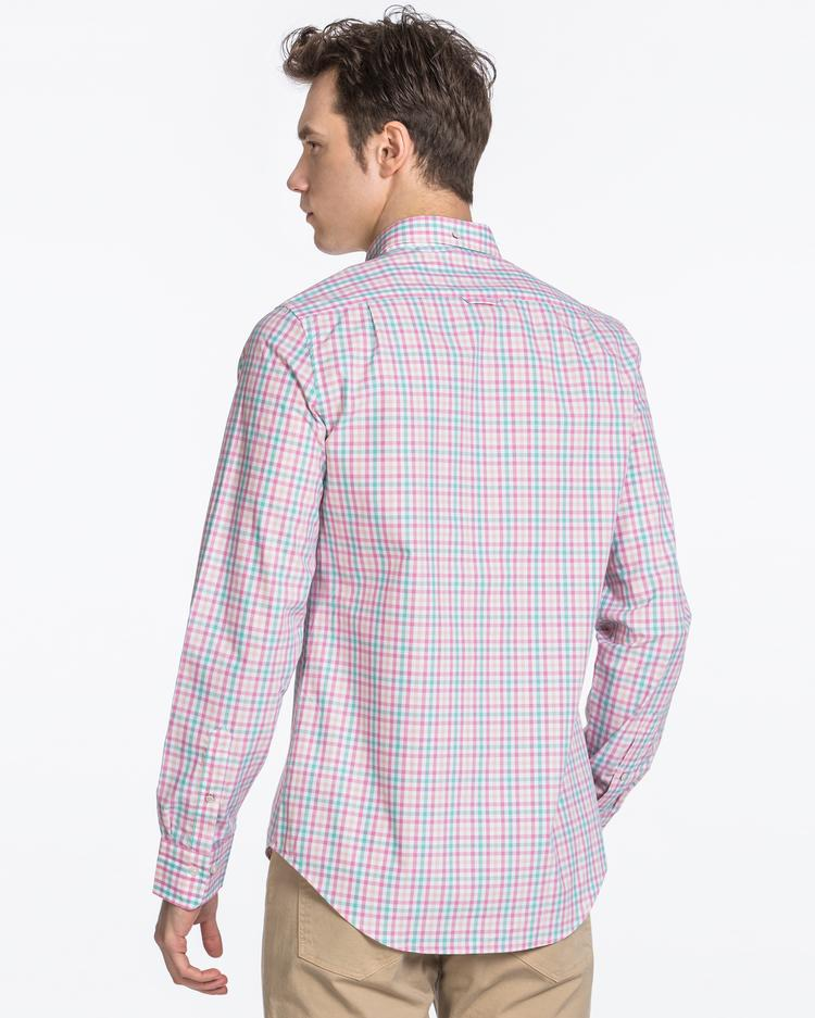 GANT Men's Pink Pique Slim Fit Shirt - 3046852