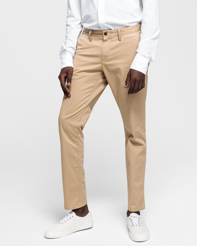 GANT Chinosy Męskie z Twillu Slim Fit - 1500156