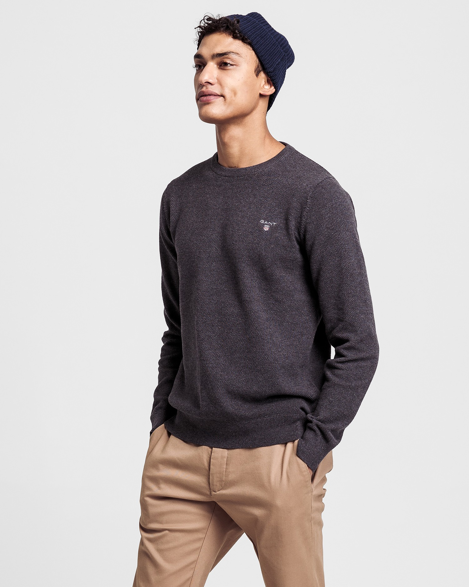 GANT Men's Cotton Pique Sweater - 80021