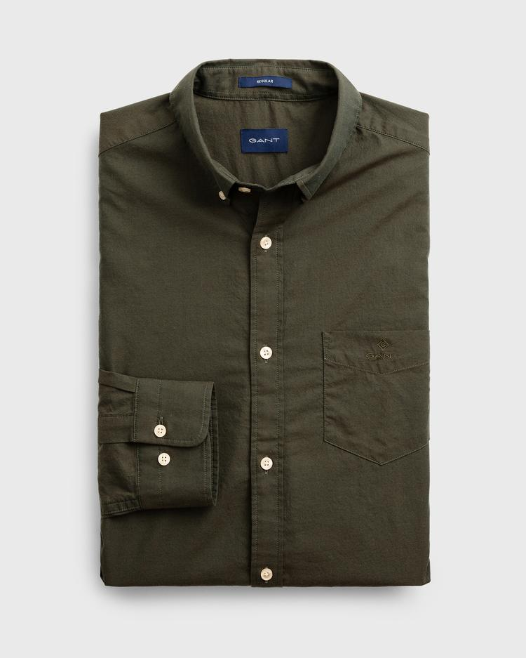 GANT Men's Winter Twill Solid Regular Fit Shirt - 3021430