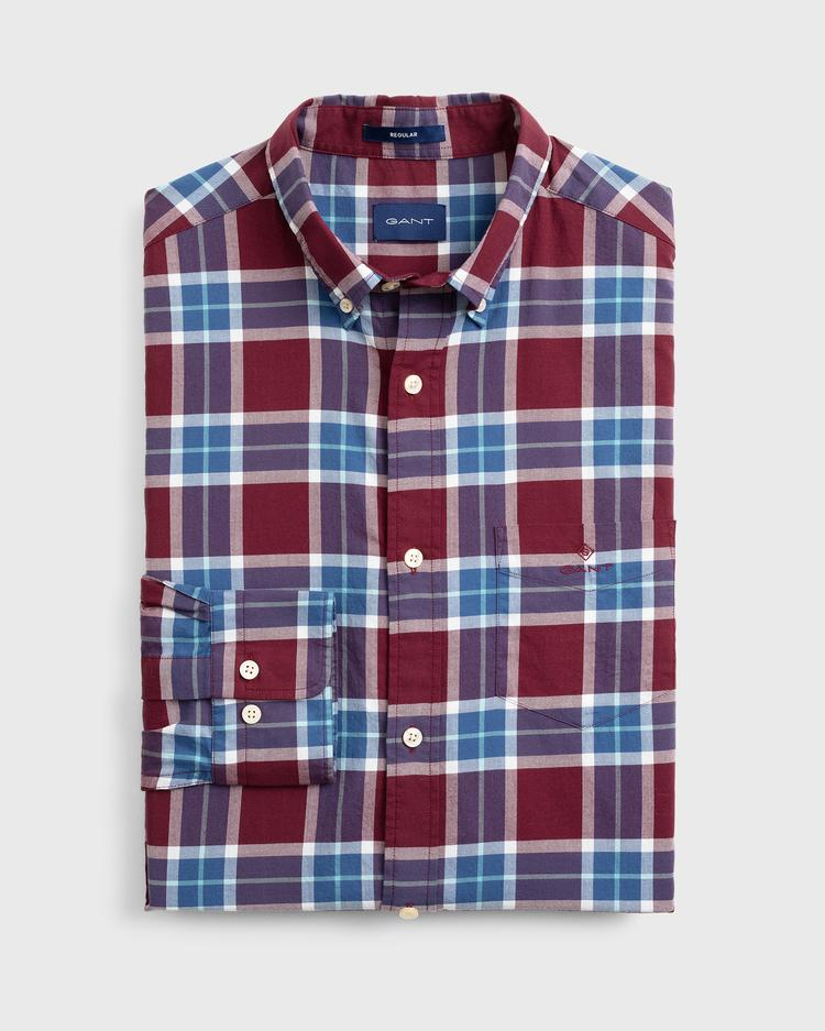 GANT Men's Winter Twill Plaid Regular Fit Shirt - 3011330