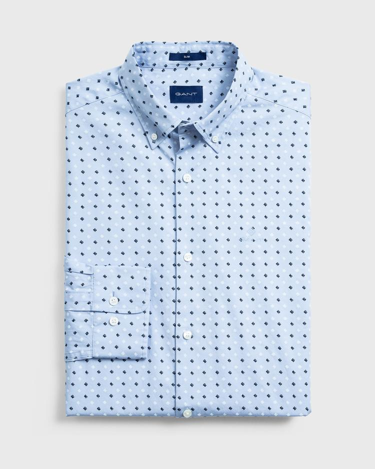 GANT Men's Micro Scribble Print Slim Fit Shirt - 3005772