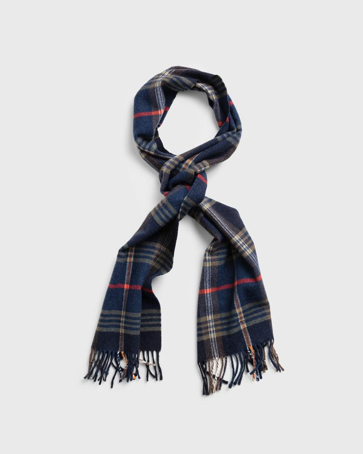 GANT Twill Checked Wool Scarf - 9920052