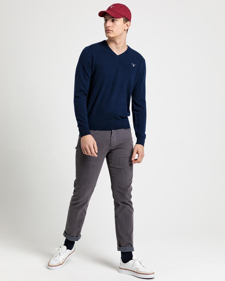 GANT Men's Superfine Lambswool V Neck Sweater - 86212