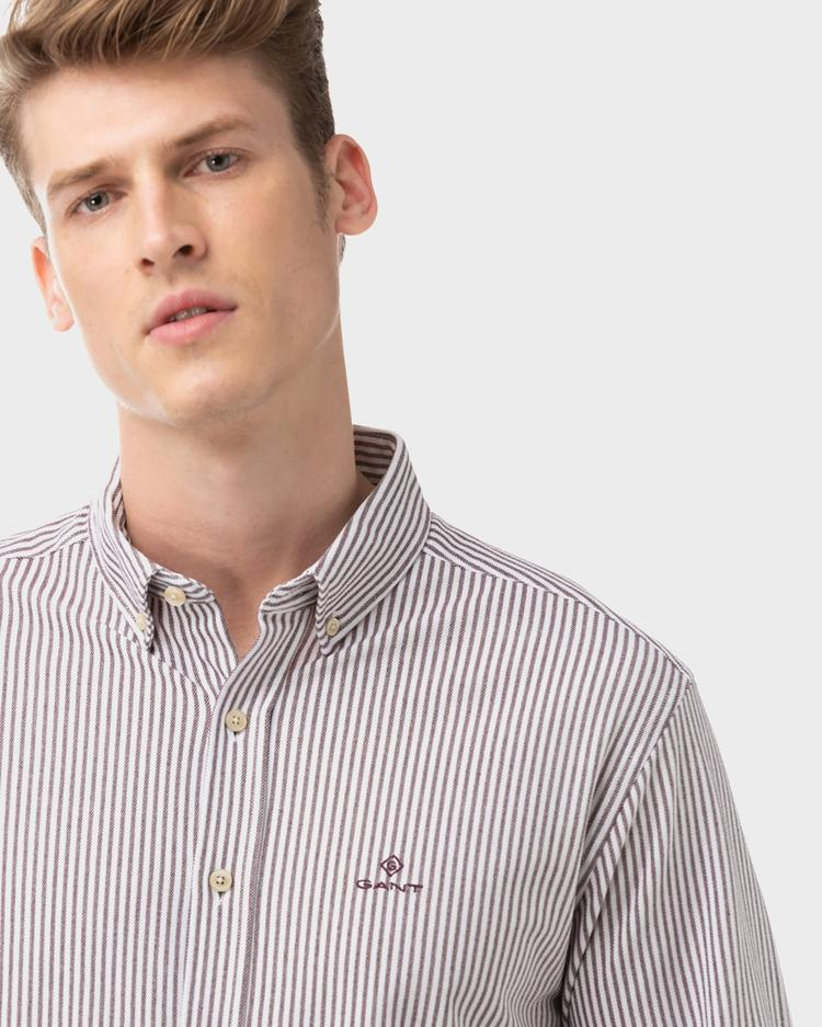 GANT Men's Pique Stripe Regular Fit Shirt - 3003460