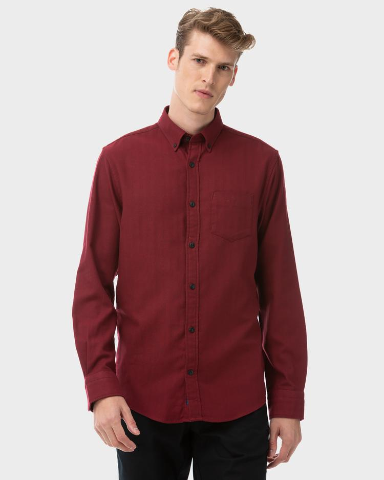 GANT Men's Herringbone Solid Regular Fit Shirt - 3020030