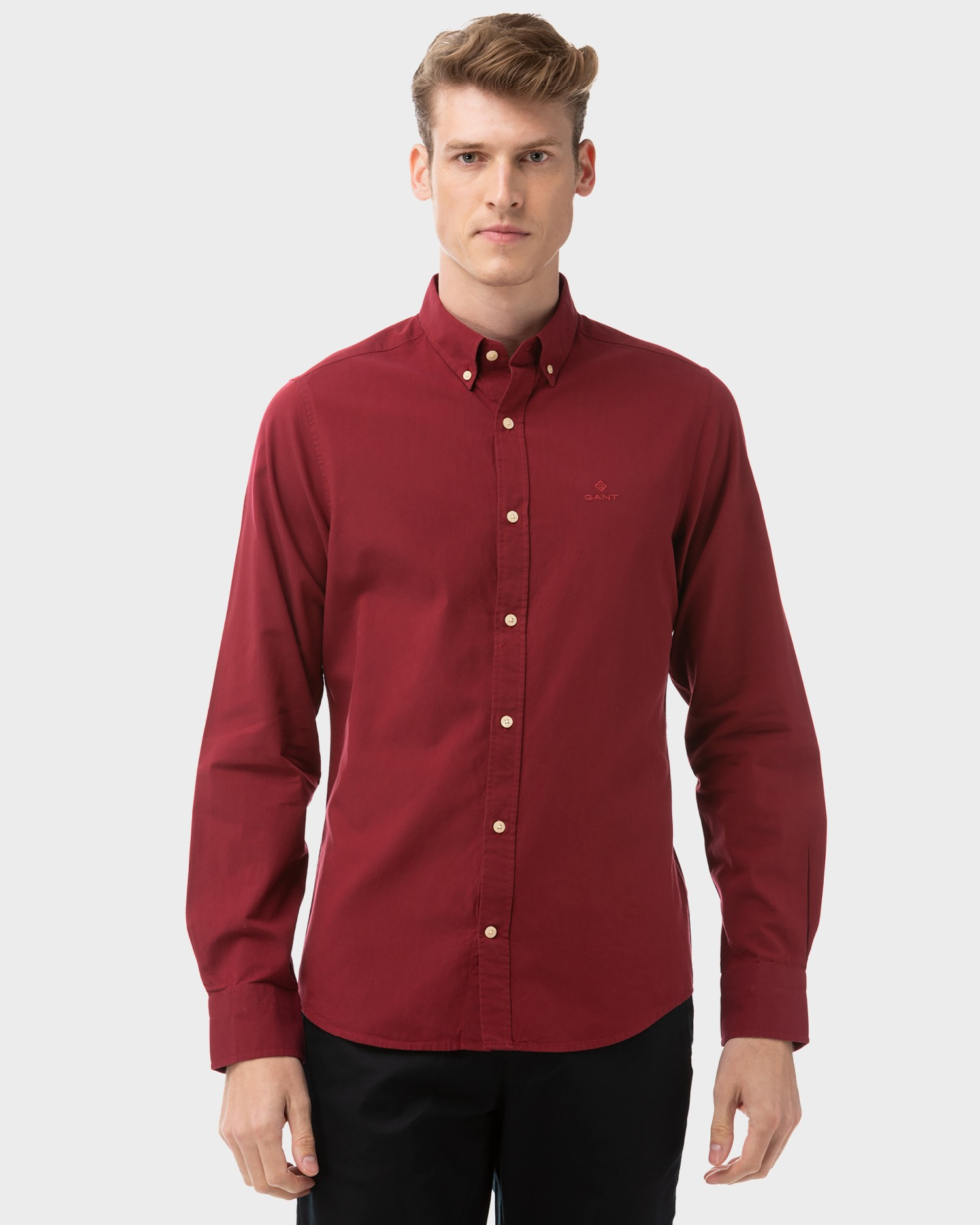 GANT Men's Winter Twill Solid Slim Fit Shirt - 3021432