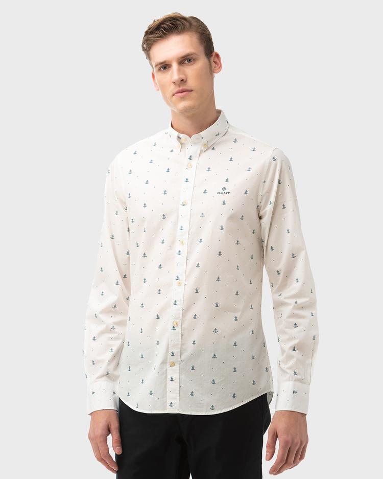 GANT Men's Anchor Print Slim Fit Shirt - 3019832