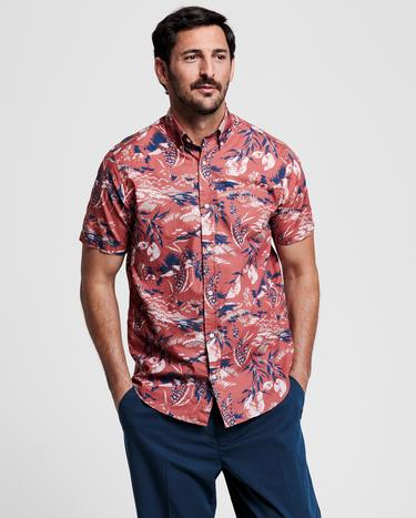 GANT Men's Red Patterned Regular Fit Shirt - 3008261