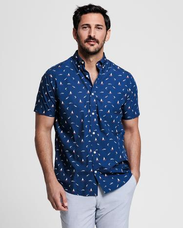 GANT Men's Navy Blue Regular Fit Shirt - 3008371