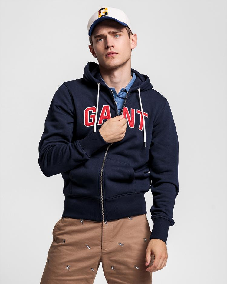 GANT Erkek Lacivert Regular Fit Sweatshirt - 2047055