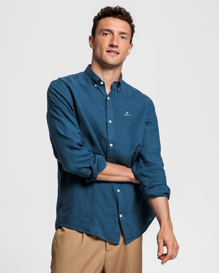 GANT Men's Regular Fit Linen Shirt - 3008560