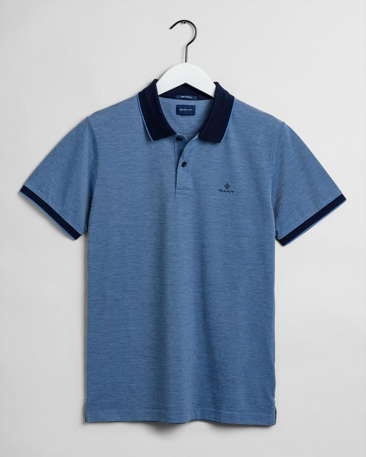 GANT Erkek Mavi Regular Fit Pique Polo - 2012012