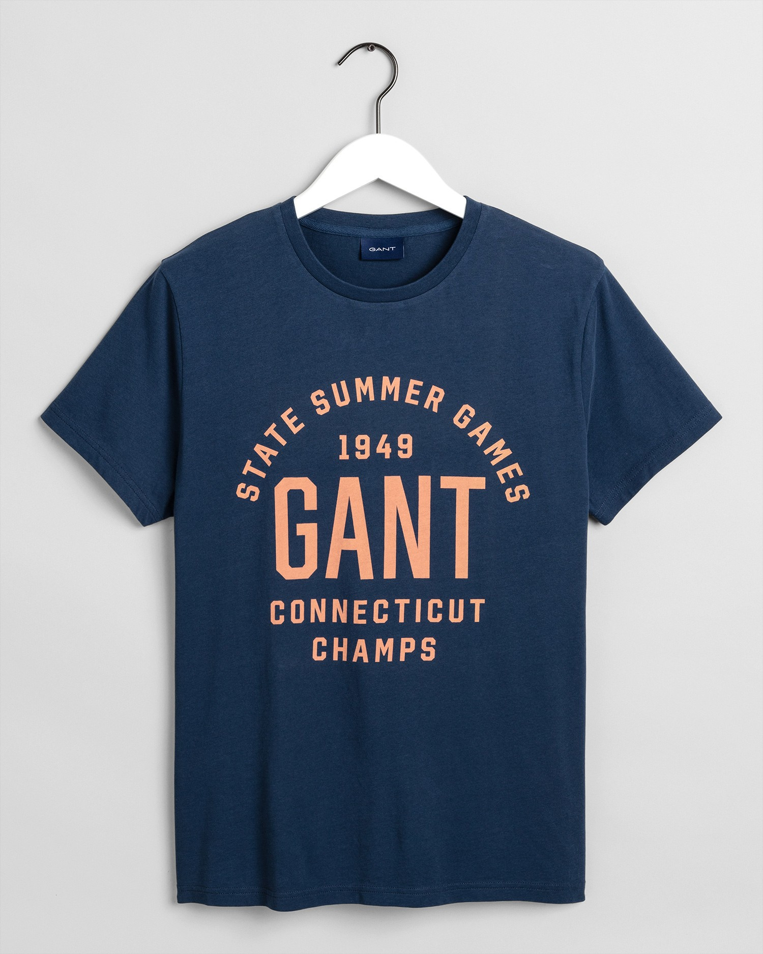 GANT Erkek Lacivert Regular Fit T-Shirt - 2003069