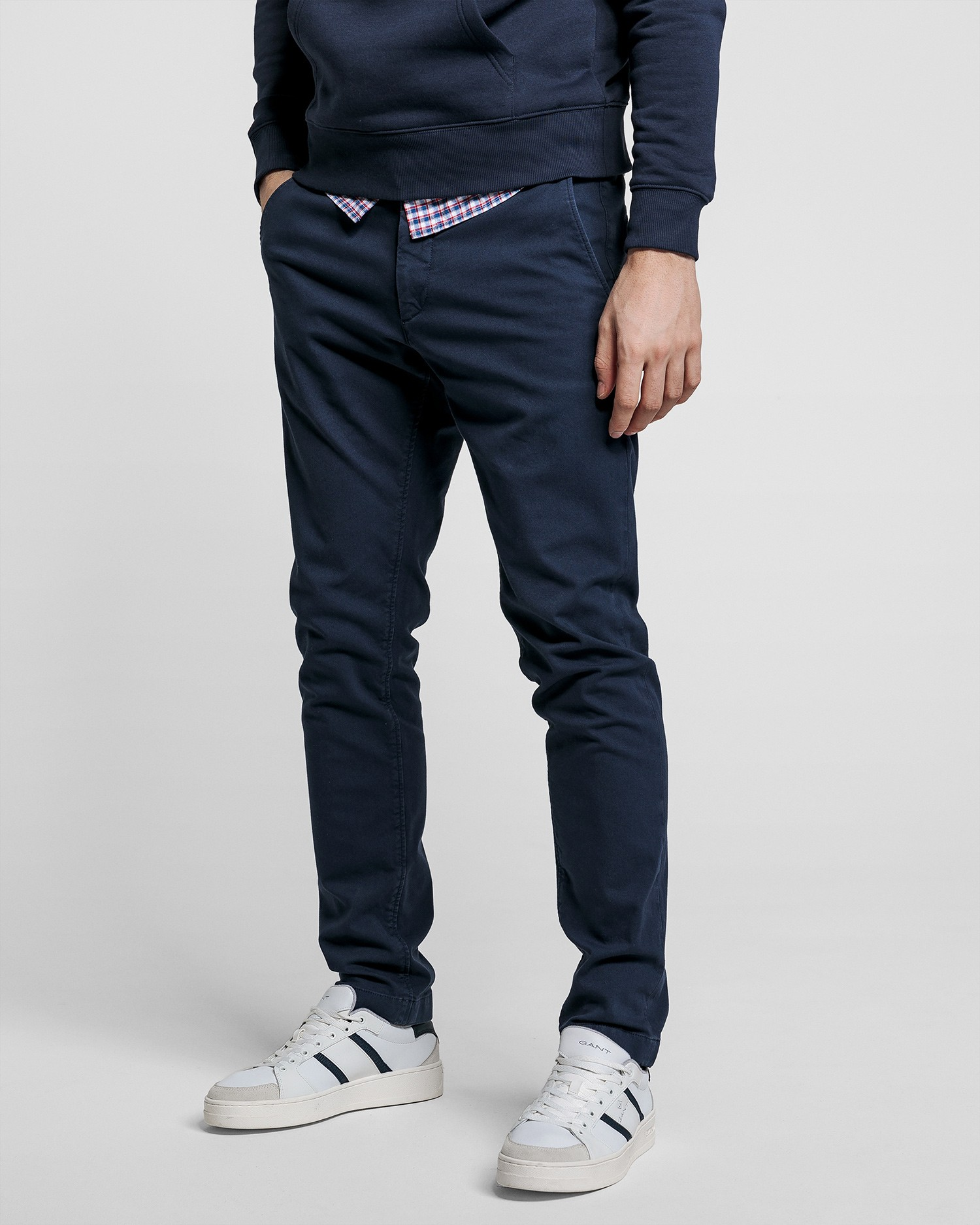 GANT Chinosy Męskie Z Twillu Slim Fit - 1500178