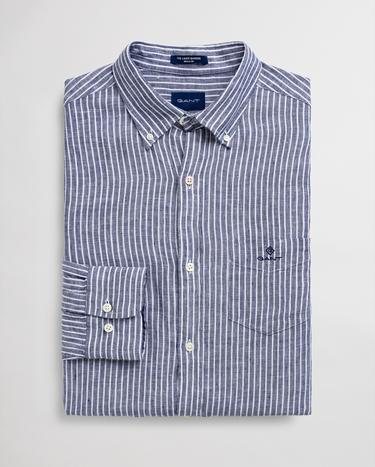 GANT Men's Striped Linen Regular Fit Shirt - 3012520