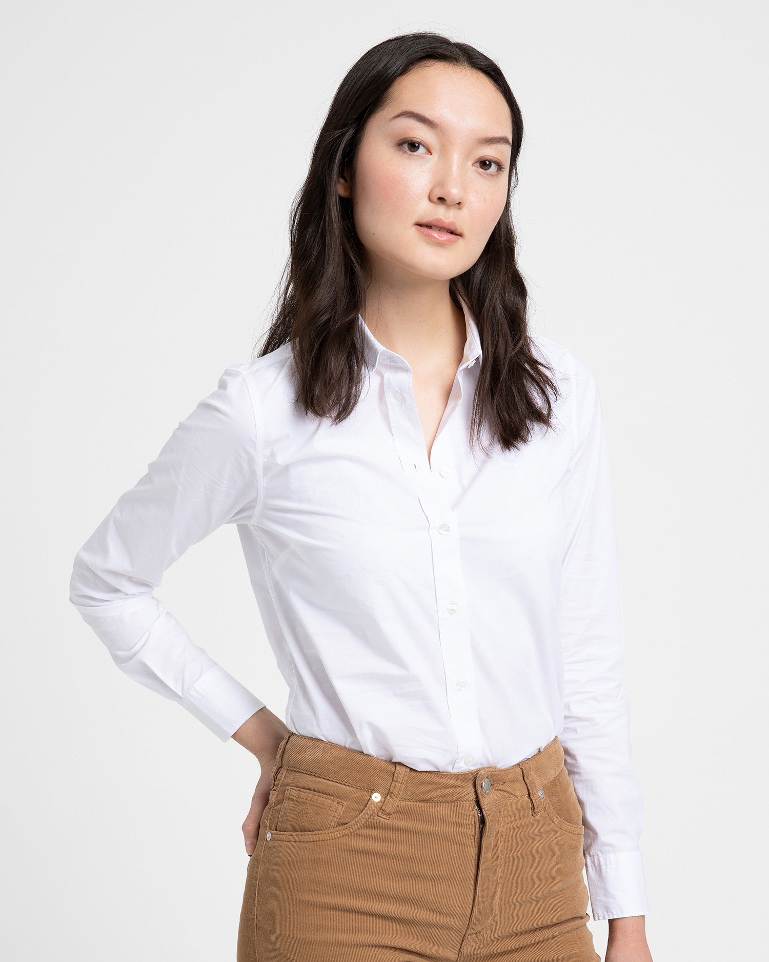 GANT Women's Solid Stretch Broadcloth Shirt - 4350022