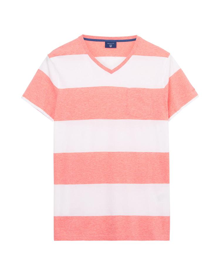 GANT Men's Melange Block Stripe Short Sleeve T-Shirt - 224123
