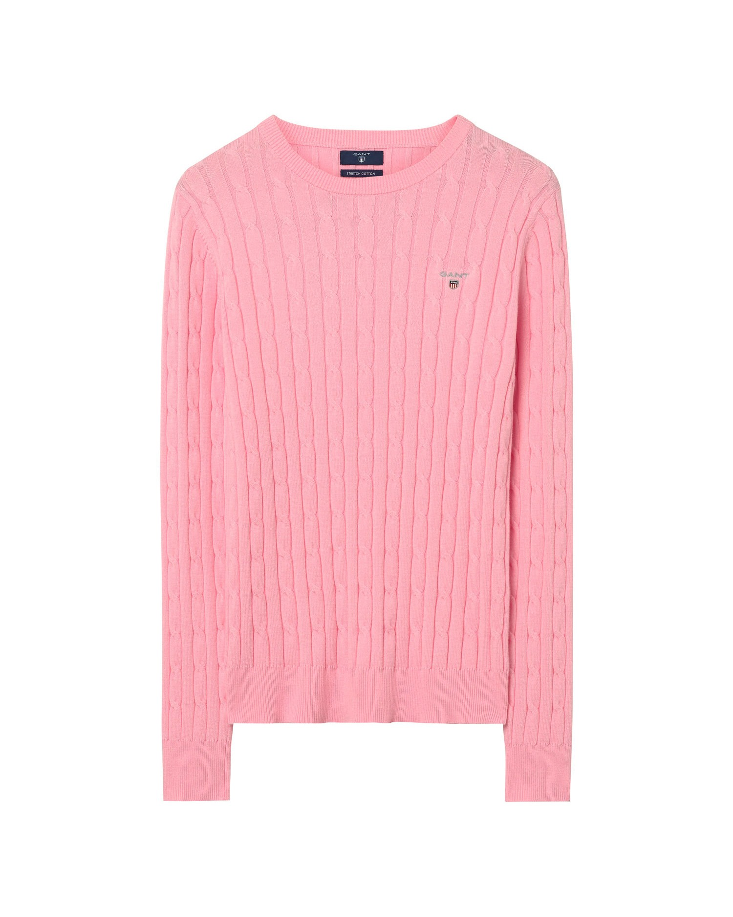 GANT Women's Stretch Cotton Cable Crew Sweater - 480021