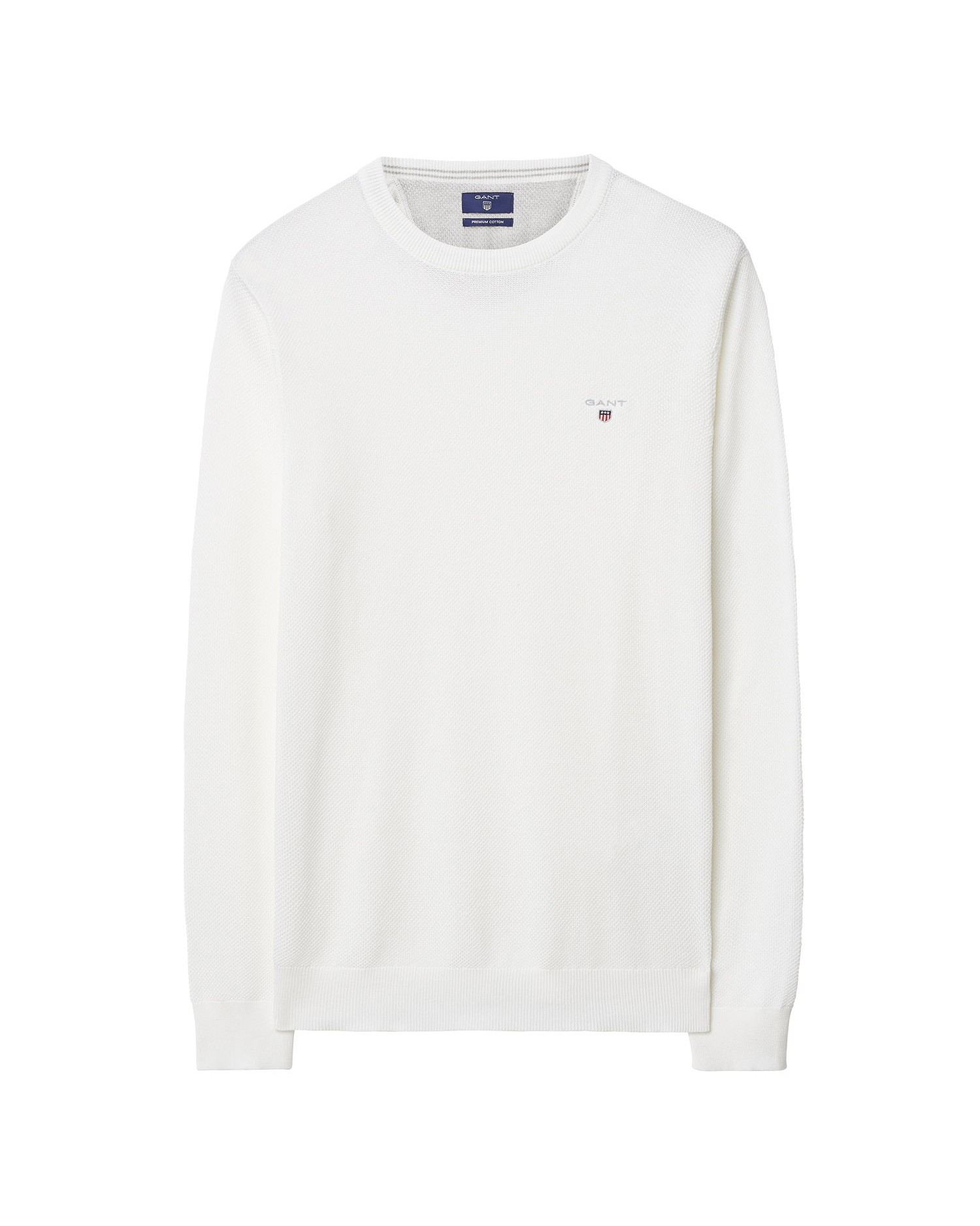 GANT Men's Cotton Pique Crew Sweater - 80021