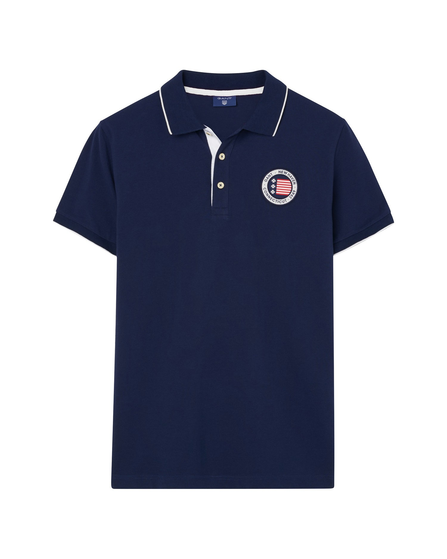 GANT Men's American Flag Piqué Rugger Polo - 2022011