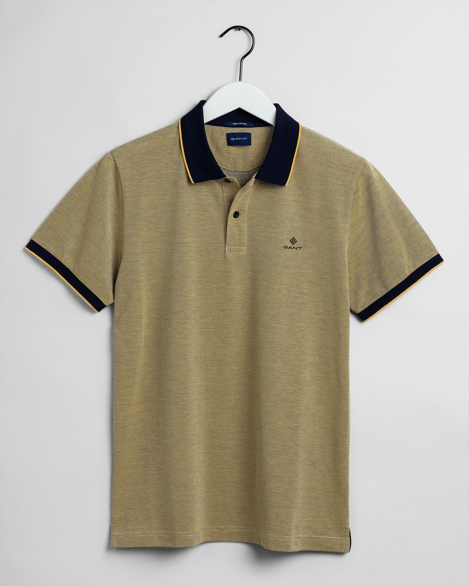 GANT Erkek Sarı Regular Fit Pique Polo - 2012012