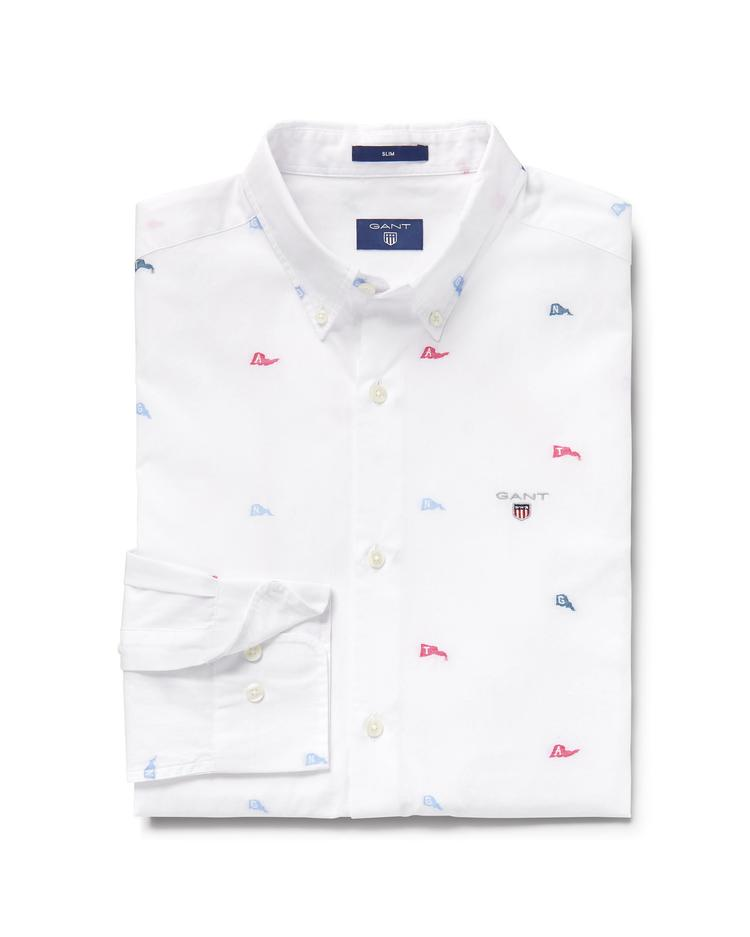 GANT Men's White Slim Fit Shirt - 3000272
