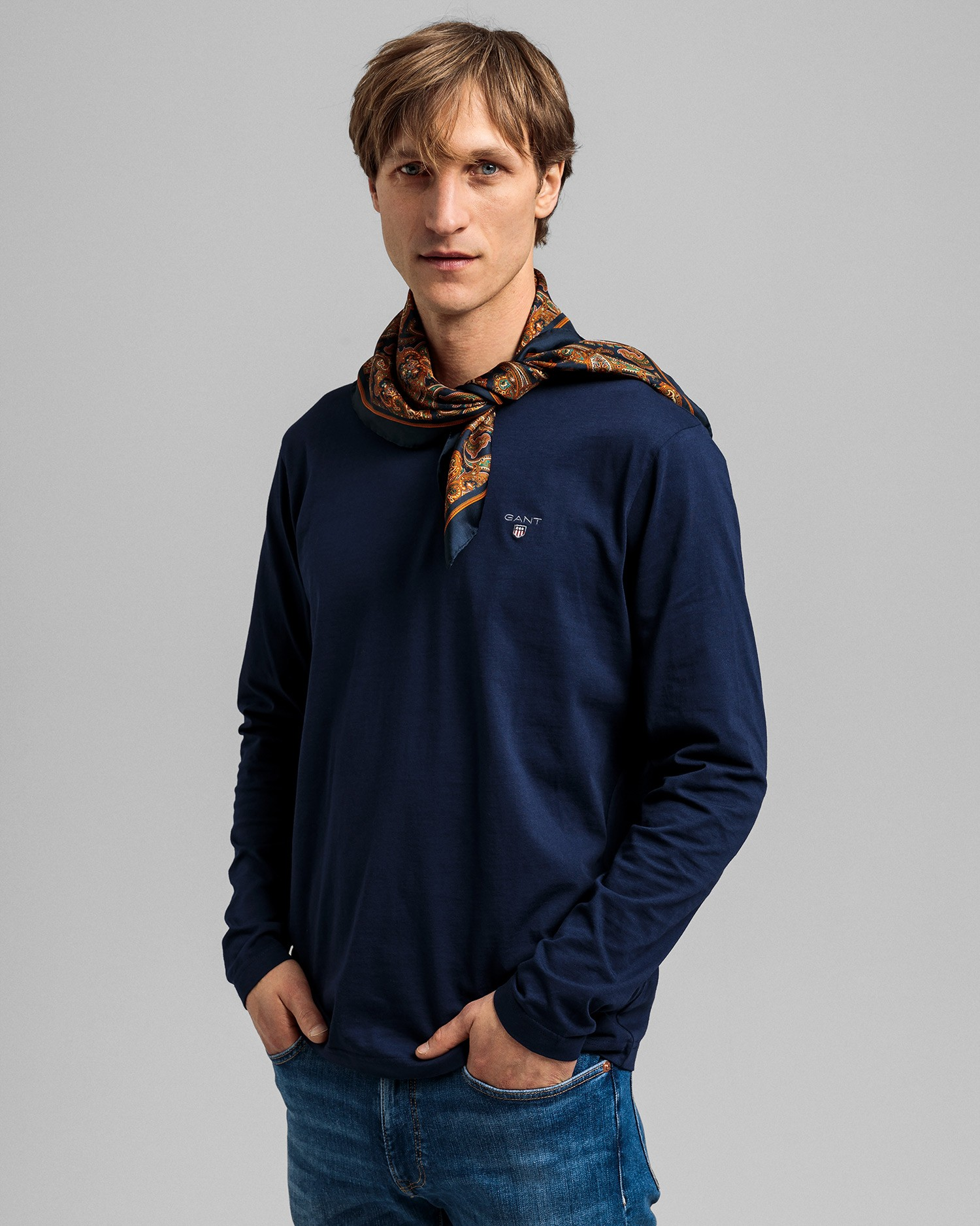GANT Men's The Original Long Sleeve T-Shirt - 234502