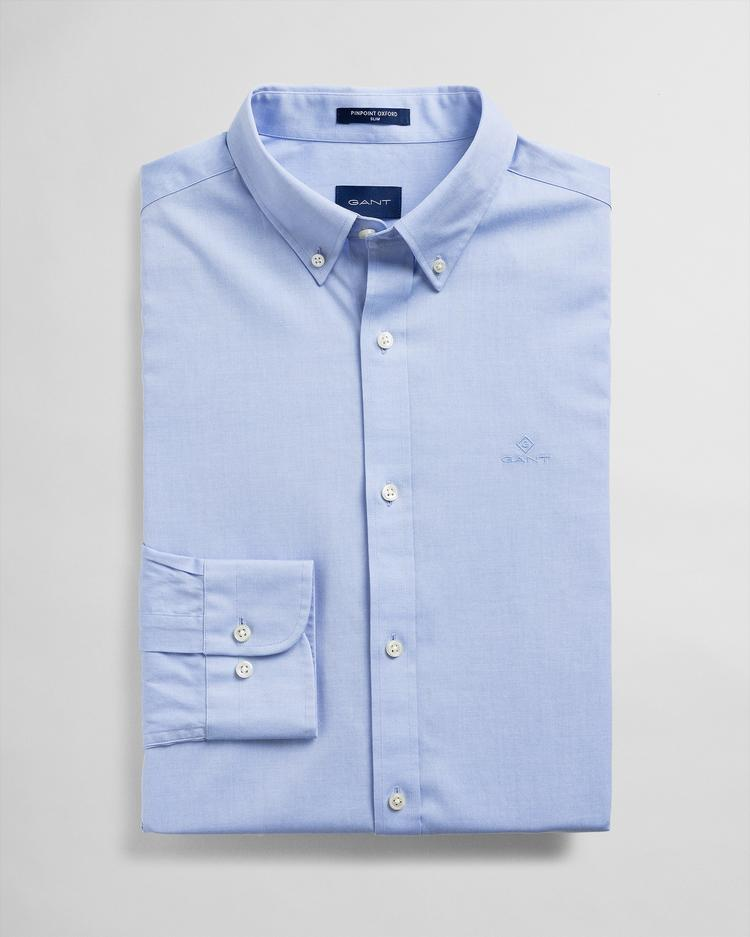 GANT Men's Blue Slim Fit Shirt - 3060702