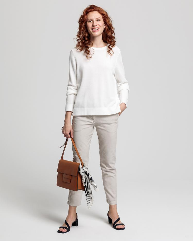 GANT Women's Cotton Pique Crew Sweater - 4800504