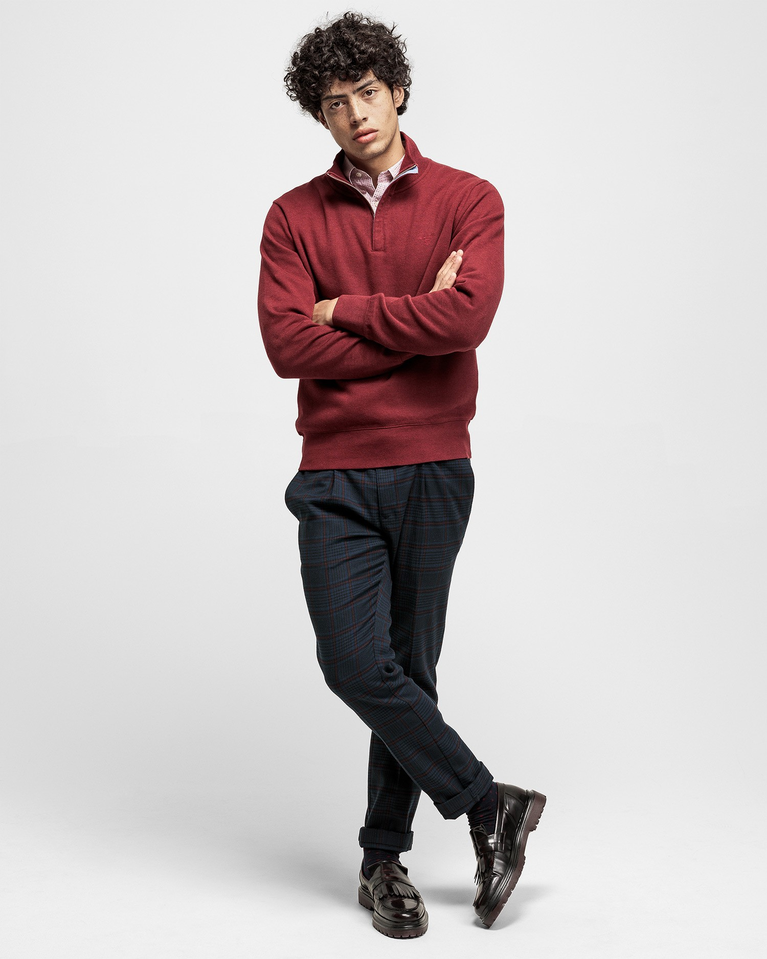 GANT Men's Sacker Rib Half Zip Sweatshirt - 2028005