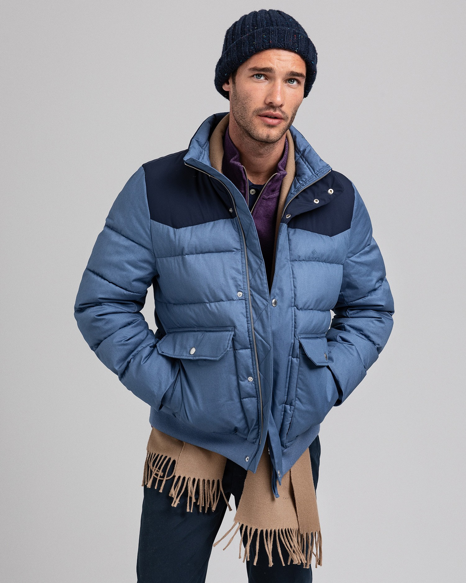 GANT Kurtka Męska The Retro Puffer - 7006101