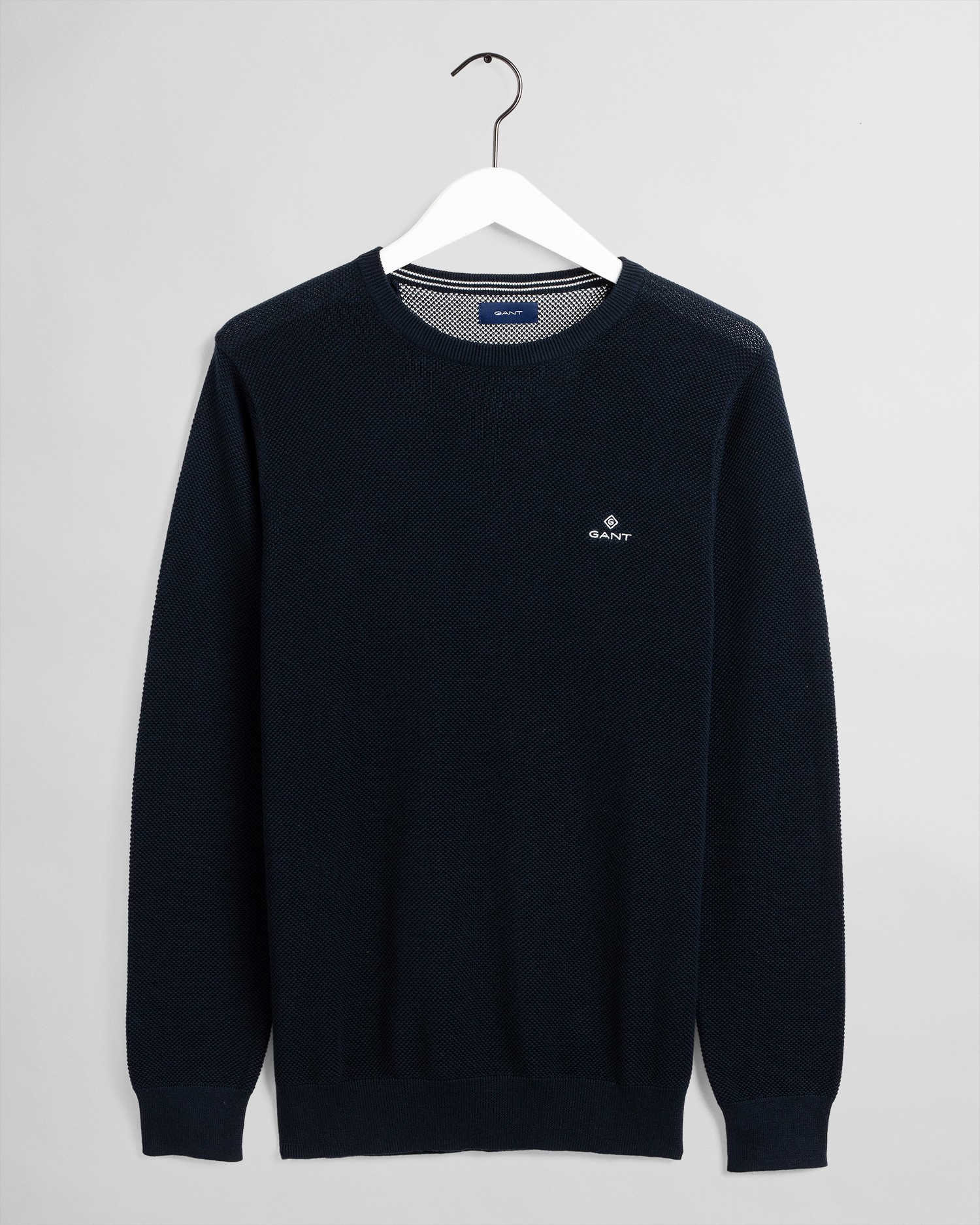 GANT Men's Cotton Pique Crew Sweater - 8030521