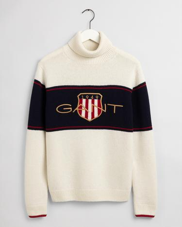 GANT Men's Archive Shield Turtleneck Sweater - 8000128