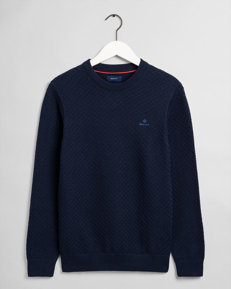 GANT Men's Cotton Texture Crew Sweater - 8030086