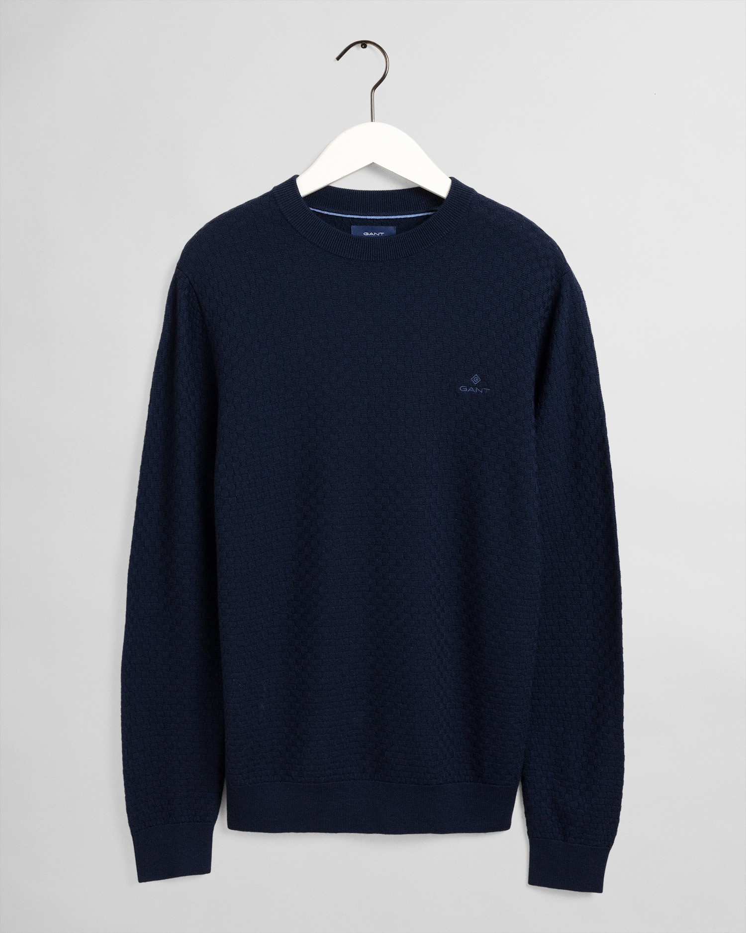 GANT Men's Merino Texture Crew Sweater - 8050096