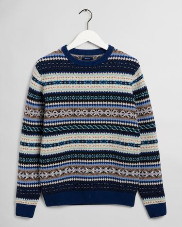 GANT Men's Fair isle Crew Sweater - 8060002
