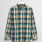 GANT Men's Oxford Plaid Regular Fit Broadcloth Shirts - 3008770