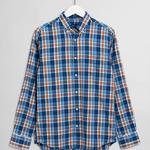 GANT Men's Windblown Oxford Check Regular Fit Broadcloth Shirts - 3027730