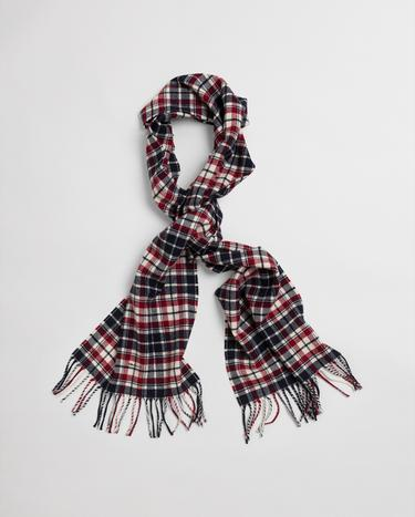 GANT Unisex Checked Twill Wool Scarf - 9920135