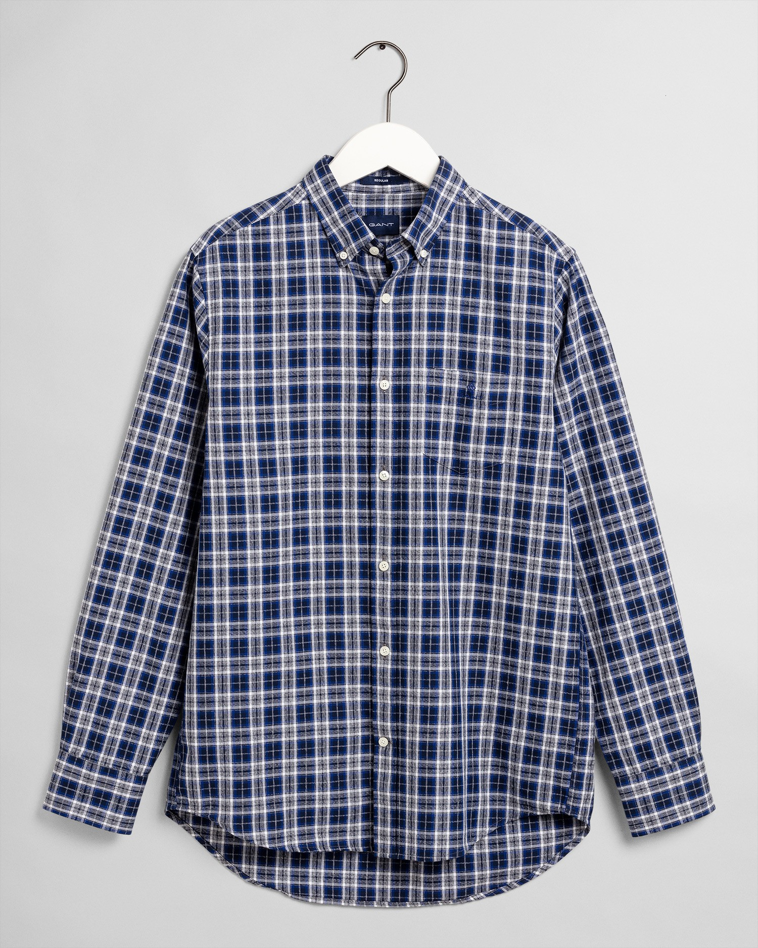 GANT Men's Oxford Mouline Check Regular Fit Broadcloth Shirts - 3008970