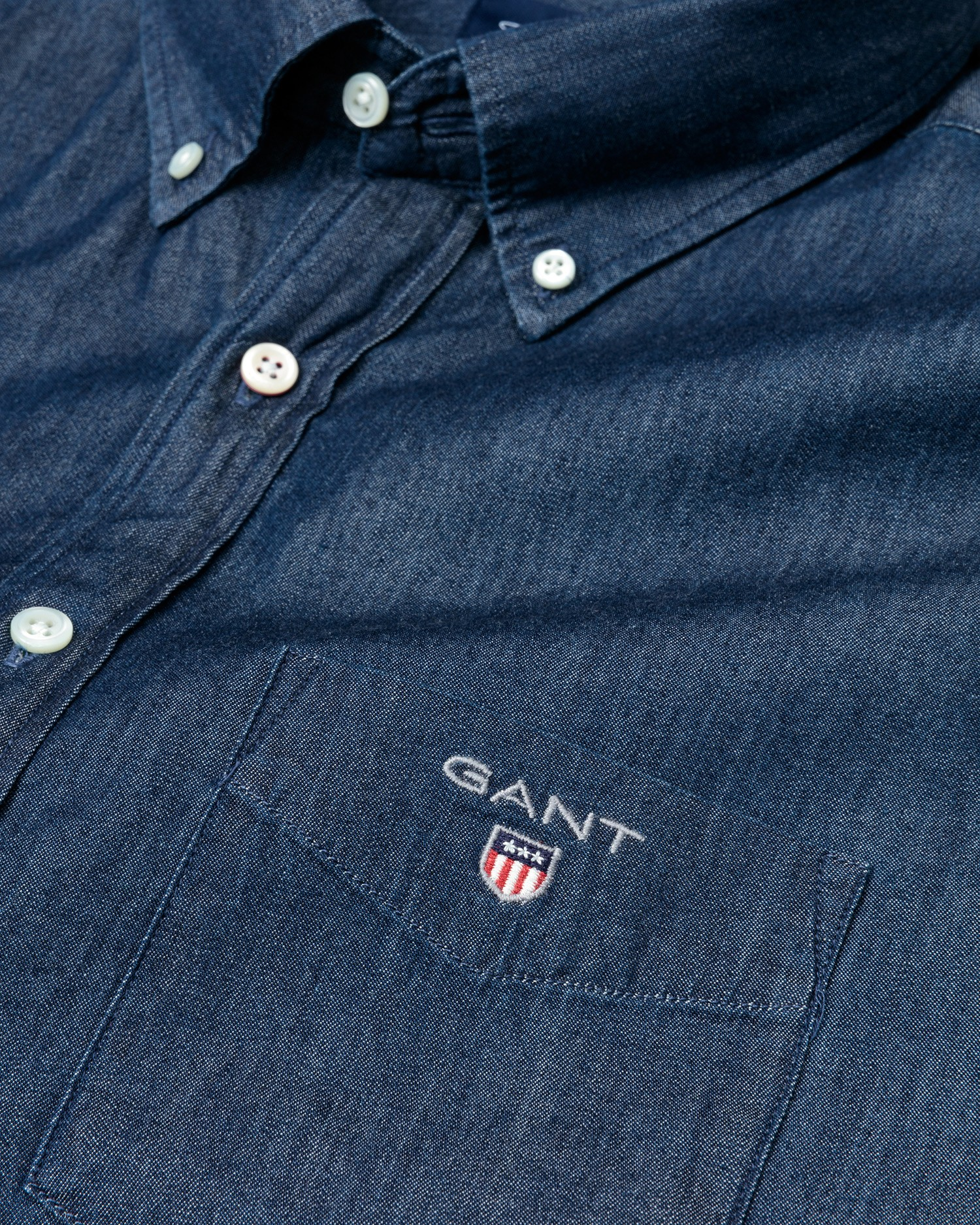 GANT Men's The indigo Regular Fit Broadcloth Shirts - 3040520